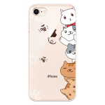 For iPhone 7 / 8 Lucency Painted TPU Protective(Meow Meow)