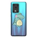 For Galaxy S20 Ultra Lucency Painted TPU Protective(Bird Crocodile)