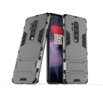 For OnePlus 8 Pro Shockproof PC + TPU Case with Holder(Gray)