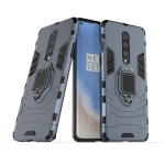 For OnePlus 8 PC + TPU Shockproof Protective Case with Magnetic Ring Holder(Navy Blue)