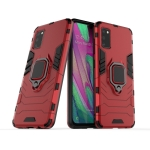 For Galaxy A41 PC + TPU Shockproof Protective Case with Magnetic Ring Holder(Red)