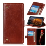 For Huawei Enjoy 10 / Y7 (2020) Copper Buckle Nappa Texture Horizontal Flip Leather Case with Holder & Card Slots & Wallet(Brown)