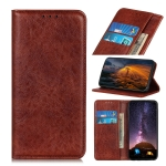 For Huawei Enjoy 10 / Y7 (2020) Magnetic Crazy Horse Texture Horizontal Flip Leather Case with Holder & Card Slots & Wallet(Brown)