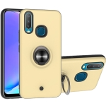 For Vivo Y17 & Y15 & Y12 2 In 1 PC + TPU Protective Case with 360 Degrees Rotating Ring Holder(Gold)