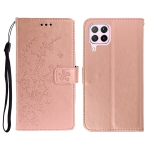 For Huawei Nova 6SE Plum Blossom Pattern Left and Right Flip Leather Case with Bracket & Card Slot & Wallet & Lanyard(Rose Gold)