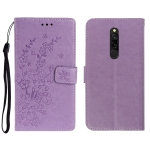 For Redmi 8 Plum Blossom Pattern Left and Right Flip Leather Case with Bracket & Card Slot & Wallet & Lanyard(Purple)