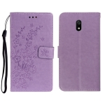 For Redmi 8A Plum Blossom Pattern Left and Right Flip Leather Case with Bracket & Card Slot & Wallet & Lanyard(Purple)