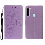 For Redmi Note 8 Plum Blossom Pattern Left and Right Flip Leather Case with Bracket & Card Slot & Wallet & Lanyard(Purple)