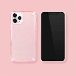 For iPhone 11 Glitter Powder Colorful Edge Shockproof Protective Case(Pink)