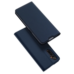 For OPPO Realme 6 Pro DUX DUCIS Skin Pro Series Horizontal Flip PU + TPU Leather Case, with Holder & Card Slots(Blue)