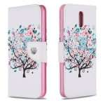 For Nokia 2.3 Colored Drawing Pattern Horizontal Flip Leather Case with Holder & Card Slots & Wallet(Little Tree)
