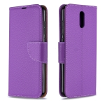 For Nokia 2.3 Pure Color Horizontal Flip PU Leather Case with Holder & Card Slots & Wallet & Lanyard(Purple)