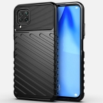 For Huawei P40 Lite Thunderbolt Shockproof TPU Soft Case(Black)