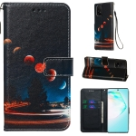 For Galaxy M80s Colored Drawing Pattern Plain Weave Horizontal Flip Leather Case with Holder & Card Slot & Wallet&Lanyard(Wandering Earth)