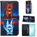 For Galaxy A91 Colored Drawing Pattern Plain Weave Horizontal Flip Leather Case with Holder & Card Slot & Wallet&Lanyard(Fox)