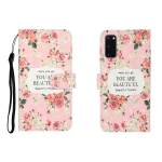For Galaxy S20 3D Colored Drawing Horizontal Flip Leather Case with Holder & Card Slot & Wallet(Rose Flower)