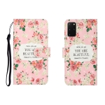 For Galaxy S20 Plus 3D Colored Drawing Horizontal Flip Leather Case with Holder & Card Slot & Wallet(Rose Flower)