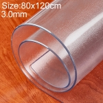 80x120cm Waterproof Oilproof Transparent Frosted PVC Disposable Tablecloth Coffee Table Mat(Unshrinking 3.0mm Frosted)