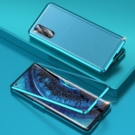 For OPPO Find X2 Shockproof Magnetic Attraction Leather Backboard + Tempered Glass Case with Camera Lens Protector Film(Blue)