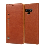 For Galaxy Note9 CMai2 Kaka Series Litchi Texture Horizontal Flip Leather Case with Holder & Card Slots(Brown)