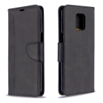 For Xiaomi Redmi Note 9 / Note 9S / Note 9 Pro Retro Lambskin Texture Pure Color Horizontal Flip PU Leather Case with Holder & Card Slots & Wallet & Lanyard(Black)