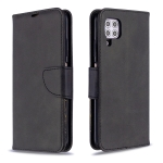 For Huawei P40 Lite Retro Lambskin Texture Pure Color Horizontal Flip PU Leather Case with Holder & Card Slots & Wallet & Lanyard(Black)