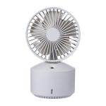 QW-F10 Mini USB Charging Mute Desktop Spray Humidifying Electric Fan, with 5 Speed Control (Grey)