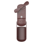 QW-F11 Mini Foldable Handheld Desktop Spray Humidifying Electric Fan, with 3 Speed Control (Brown)