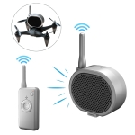 Real Time Pager Portable Speaker Long-distance Interference Free Loudspeaker for Drone (Dark Gray)