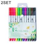 12 Color Color Hook Line Pen Water Based Pen Fiber Stroke Pen