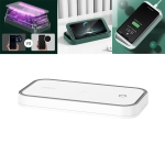 ROCK 10W Wireless Charging Sterilization Box Smartphone Sterilizer UV Light Disinfection Cleaning Box with Holder Function(White)