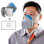 CP-3600 Industrial Self-suction KN95 Filtering Respirator Dustproof Mask PM2.5 Antivirus Anti-fog Half Face Mask with 20 PCS KN95 Filter Pads