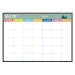Magnetic Monthly Planner Refrigerator Magnet PET Magnetic Soft Whiteboard, Size: 29.7cm x 42cm (Black)