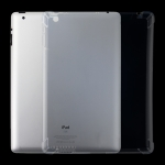 For iPad 4 / 3 / 2 3mm Four Corners Shockproof Transparent Protective Case
