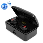 G10 TWS Bluetooth 5.0 Wireless Bluetooth Earphone with Charging Box, Support Digital Display & HD Call & Power Bank (Black)