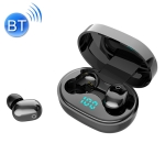 J15 IPX54 Sports Waterproof Bluetooth 5.0 Touch Wireless Bluetooth Earphone with Charging Box, Support Digital Display & HD Call & Siri Voice Assistant(Black)