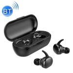 TWS-4 IPX5 Waterproof Bluetooth 5.0 Touch Wireless Bluetooth Earphone with Charging Box, Support HD Call & Voice Prompts(Black)