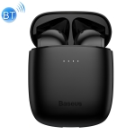 Baseus NGW04-01 IP54 Waterproof Bluetooth 5.0 Touch Bluetooth Earphone with Charging Box, Support Call & Voice Assistant(Black)