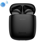 Baseus NGW04P-02 IP54 Waterproof Bluetooth 5.0 Touch Bluetooth Earphone with Charging Box, Support Call & Voice Assistant & QI Wireless Charging(Black)