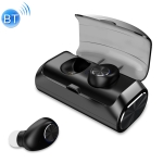 KIVEE KV-TW03 V5.0 Wireless Stereo Bluetooth Headset with 2600mAh Charging Case (Black)