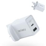 WIWU UM13 18W PD + QC 3.0 Fast Charger Power Adapter Plug Adapter UK Plug