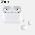 2 Pairs TOTU AA-103 Bluetooth Earphone Silicone Ear Caps Earpads for Apple AirPods Pro, Size: M(White)