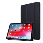 For iPad Pro 11 (2020) PC + PU Leather Case with Three-folding (Black)