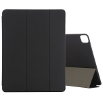 For iPad Pro 12.9 (2020) PC + PU Magnetic Leather Case with Three-folding Holder (Black)