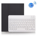 X-11B Skin Plain Texture Detachable Bluetooth Keyboard Case for iPad Pro 11 inch 2020 / 2018, with Pen Slot (Black)