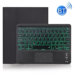 X-11BCS Skin Plain Texture Detachable Bluetooth Keyboard Case for iPad Pro 11 inch 2020 / 2018, with Touchpad & Pen Slot & Backlight (Black)