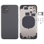 Back Housing Cover with SIM Card Tray & Side keys for iPhone 11 Pro(Grey)