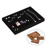 Creative Multi-function Desktop Jewelry Suede Storage Box (Black)