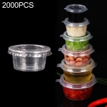 2000 PCS Thick Disposable Transparent Plastic Takeout Packaging Seasoning Box with Lid, Style: 1oz Split Cup 30ml