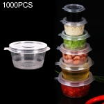1000 PCS Thick Disposable Transparent Plastic Takeout Packaging Seasoning Box with Lid, Style: 3oz Siamese Cup 75ml